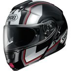 Black/Silver/Red Neotec Imminent TC-5 Modular Helmet - 0117-1205-07