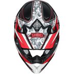 Red/Black/White VFX-W Turmoil TC-1 Off-Road Helmet - 0145-8901-06