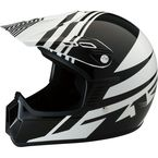 Youth Gloss Black/White Roost SE Helmet - 0111-1032