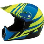 Youth Gloss Blue/Yellow Roost SE Helmet - 0111-1034