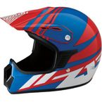 Youth Gloss Blue/Red/White Roost SE Helmet - 0111-1046