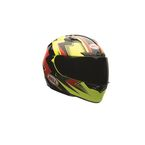 Hi-Viz Yellow/Red/Black Electric Qualifier DLX Helmet - 7074092