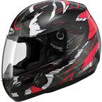 Red/Black/White GM48SPC Shatter Helmet - 72-5272L