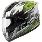 White/Green GM69S Platinum Series Crusader 2 Helmet - 72-4885L