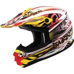 White/Red/Yellow GM76X  Xeno Helmet - 72-6812X