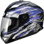 Blue/White/Black GM78S Firestarter Full Face Helmet - 72-49122X