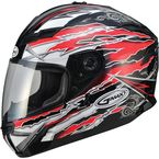 Red/White/Black GM78S Firestarter Full Face Helmet - 72-4911L