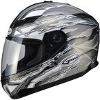 Titanium/White/Black GM78S Firestarter Full Face Helmet - 72-49162X