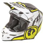 Matte White/Black/Hi-Vis Yellow F2 Carbon Dragon Helmet - 73-4042L