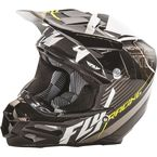 Black/White F2 Carbon Fastback Helmet - 73-4111X