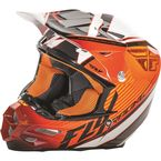 Orange/Black/White F2 Carbon Fastback Helmet - 73-4116L