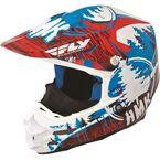 Red/Blue HMK Stamp F2 Carbon Helmet - 73-4922M