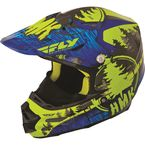 Blue/Green HMK Stamp F2 Carbon Helmet - 73-4923S