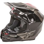 White/Black/Gray F2 Carbon Pure Helmet - 73-4120L