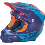 Matte Blue/Orange F2 Carbon Pure Helmet - 73-4123M