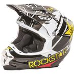 Black/White/Yellow F2 Carbon Rockstar Helmet - 73-4075L