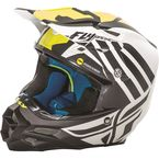 Matte White/Black/Hi-Vis Yellow F2 Carbon MIPS Zoom Helmet - 73-4200M