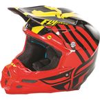 Red/Black/Yellow F2 Carbon MIPS Zoom Helmet - 73-4202X