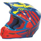 Blue/Red/Hi-Vis Yellow F2 Carbon MIPS Zoom Helmet - 73-4203L