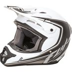 Youth Matte White/Black Kinetic Fullspeed Helmet - 73-3371YS