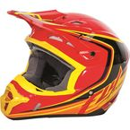 Youth Red/Black/Yellow Kinetic Fullspeed Helmet - 73-3372YL