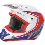 Youth White/Red/Blue Kinetic Fullspeed Helmet - 73-3373YM