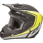 Youth Matte Black/Hi-Vis Kinetic Fullspeed Helmet - 73-3375YL