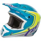 Blue/Hi-Vis/White Kinetic Fullspeed Helmet - 73-33762X
