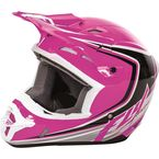 Youth Pink/Black/White Kinetic Fullspeed Helmet - 73-3379YS