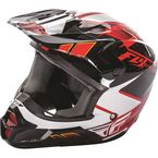 Youth Red/Black/White Kinetic Impulse Helmet - 73-3362YL
