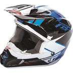 Youth Blue/Black/White Kinetic Impulse Helmet - 73-3363YL