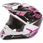 Pink/Black/White Kinetic Impulse Helmet - 73-3369M