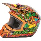 Youth Orange/Green Kinetic Jungle Helmet - 73-3446YL