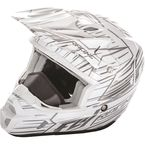 White/Black Kinetic Pro Cold Weather Speed Helmet - 73-4930M