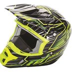 Hi-Vis/Black Kinetic Pro Cold Weather Speed Helmet - 73-4932L