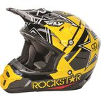 Black/Yellow Kinetic Pro Rockstar Helmet - 73-3307L