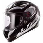 Black/White/Gray Geo Arrow Full Face Helmet - 323-1104