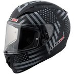 Black/Gray Old Glory Arrow Full Face Helmet - 323-1203