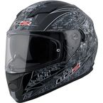 Black/Gray/White Anti-Hero Stream FF328 Full Face Helmet w/Sunshield - 328-1323