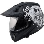 Gray/Black/White Test Machine MX453 Adventure Helmet - 453-1225