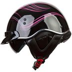 Womens Black/Pink/Gray SC3 Crazy SC3 Half Helmet with Sunshield - 566-1224