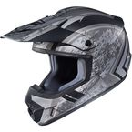 Flat Silver/Black MC-5F CS-MX 2 Squad Helmet - 55-5754