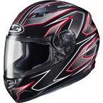 Black/Red MC-1 CS-R3 Spike Helmet - 55-9116