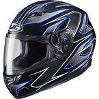 Black/Blue MC-2 CS-R3 Spike Helmet - 132-924