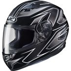 Black/Silver MC-5 CS-R3 Spike Helmet - 55-9156