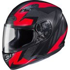 Flat Black/Red MC-1F CS-R3 Treague Helmet - 55-9214