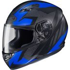 Flat Black/Blue MC-2F CS-R3 Treague Helmet - 55-9226