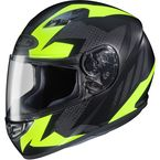 Flat Black/Hi-Vis Yellow MC-3HF CS-R3 Treague Helmet - 55-9231