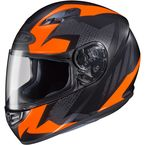 Flat Black/Fluorescent Orange MC-6F CS-R3 Treague Helmet - 55-9266