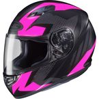 Flat Black/Pink MC-8F CS-R3 Treague Helmet - 55-9286